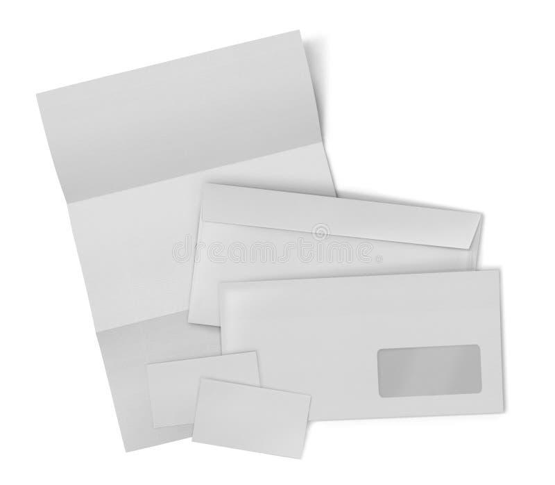 Επιχειρησιακό στάσιμο σύνολο. φάκελος, φύλλο του εγγράφου και επιχείρηση γ στοκ εικόνα με δικαίωμα ελεύθερης χρήσης