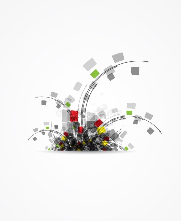 Επιχειρησιακό υπόβαθρο έννοιας τεχνολογίας εγκαταστάσεων υπολογιστών απεικόνιση αποθεμάτων
