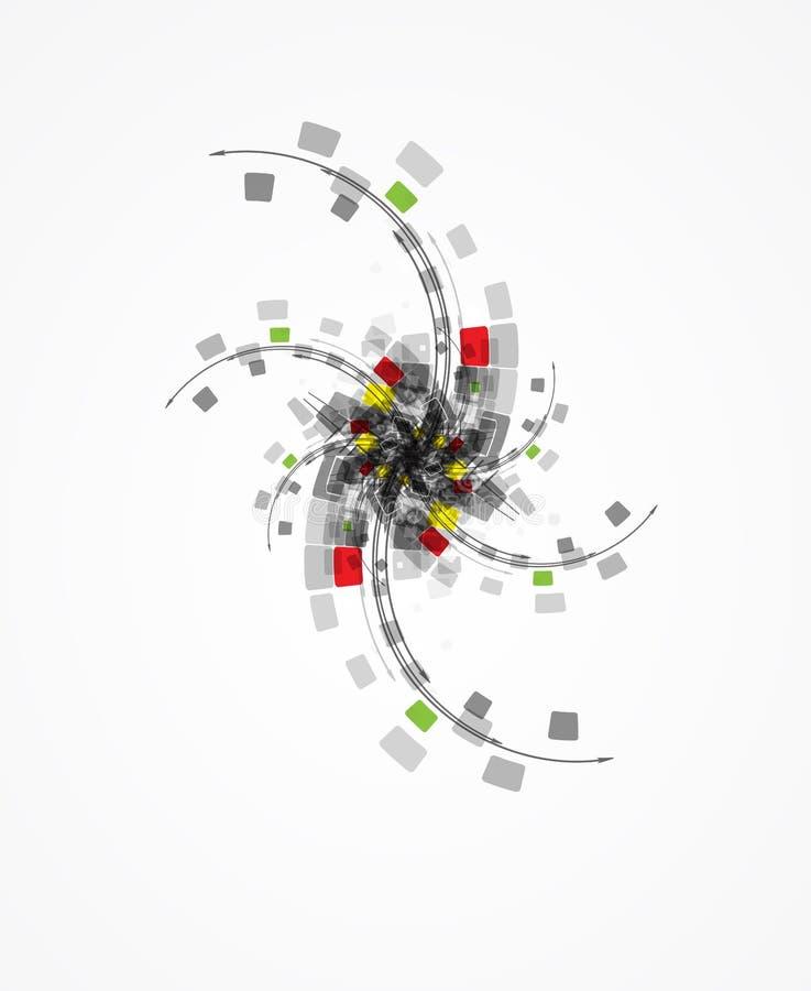 Επιχειρησιακό υπόβαθρο έννοιας τεχνολογίας εγκαταστάσεων υπολογιστών ελεύθερη απεικόνιση δικαιώματος