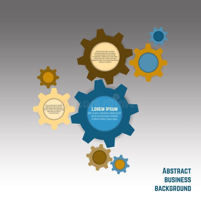 Επιχειρησιακό υπόβαθρο με τα έμβλημα-εργαλεία ελεύθερη απεικόνιση δικαιώματος