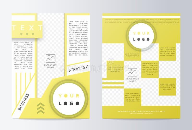 Επιχειρησιακό φυλλάδιο Σχέδιο ιπτάμενων φυλλάδιων Πρώτη σελίδα προτύπων, πίσω σελίδα ελεύθερη απεικόνιση δικαιώματος