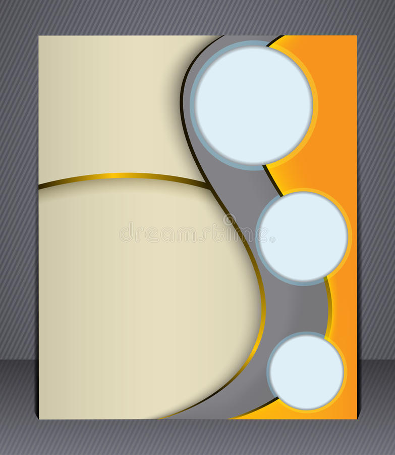 Επιχειρησιακό φυλλάδιο σχεδιαγράμματος. Ιπτάμενο σχεδιαγράμματος, πρότυπο,  ελεύθερη απεικόνιση δικαιώματος