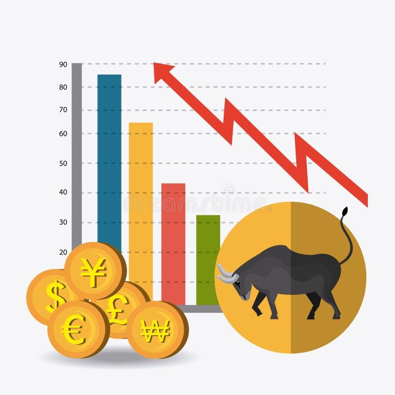 Επιχειρησιακό χρηματιστήριο διανυσματική απεικόνιση