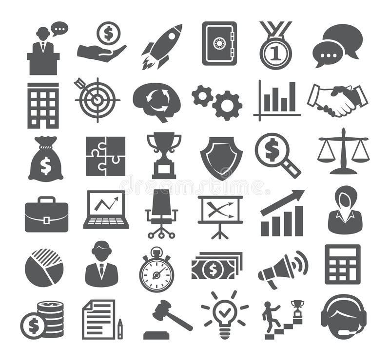επιχειρησιακό cs2 eps AI τα εικονίδια περιλαμβάνουν Διαχείριση, μάρκετινγκ, σταδιοδρομία διανυσματική απεικόνιση