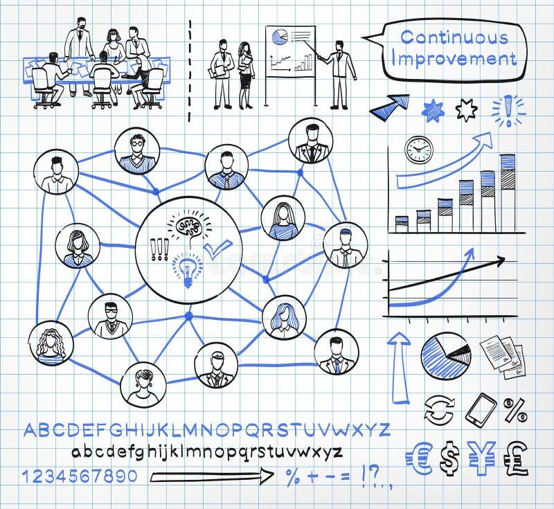 Επιχειρησιακό doodle SE ελεύθερη απεικόνιση δικαιώματος