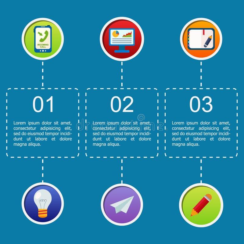 Επιχειρησιακό infographic επίπεδο σχέδιο απεικόνιση αποθεμάτων