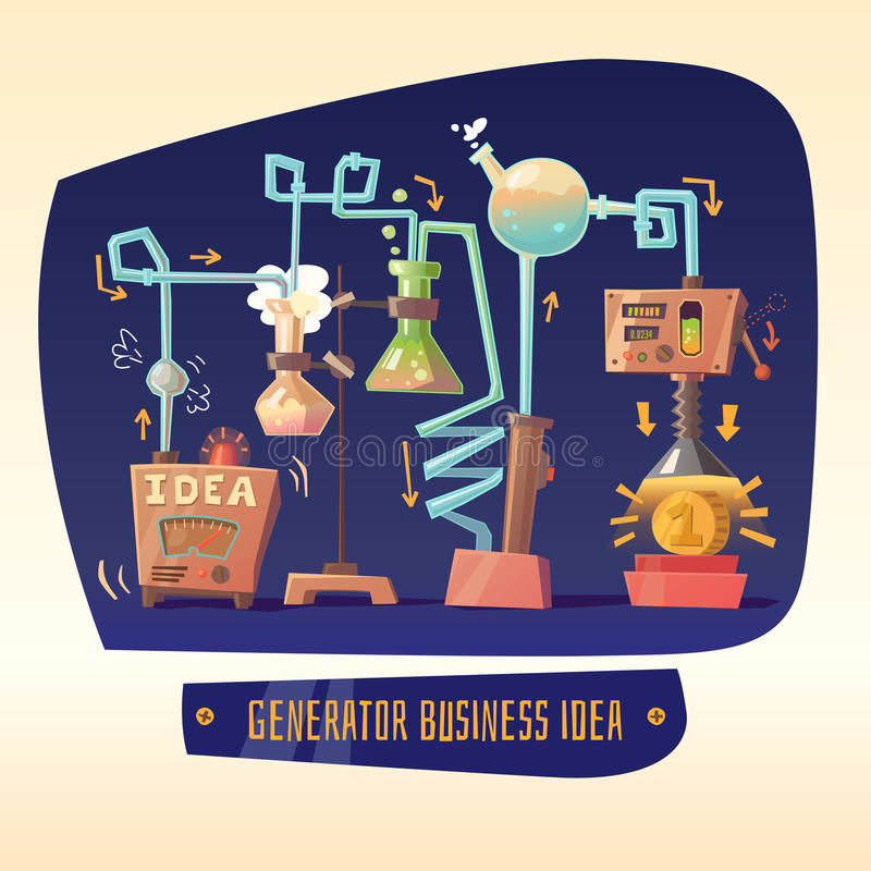 Επιχειρησιακό infographics στο θέμα των ιδεών και του κέρδους ελεύθερη απεικόνιση δικαιώματος