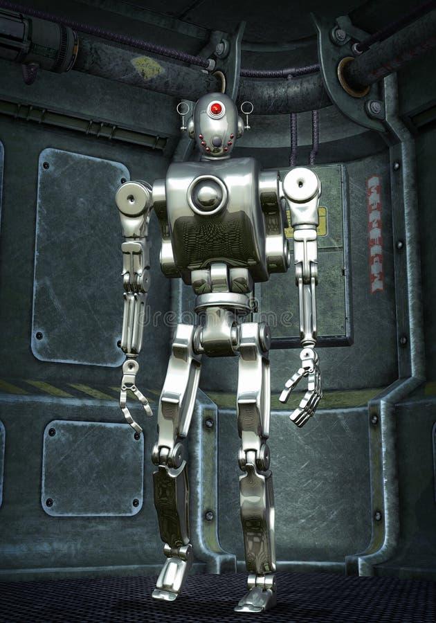 επιχρωμιωμένο ρομπότ πρωτοτύπων ελεύθερη απεικόνιση δικαιώματος