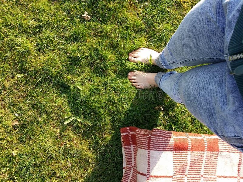 Επιχωματώνοντας γυμνό πόδι στοκ φωτογραφία με δικαίωμα ελεύθερης χρήσης