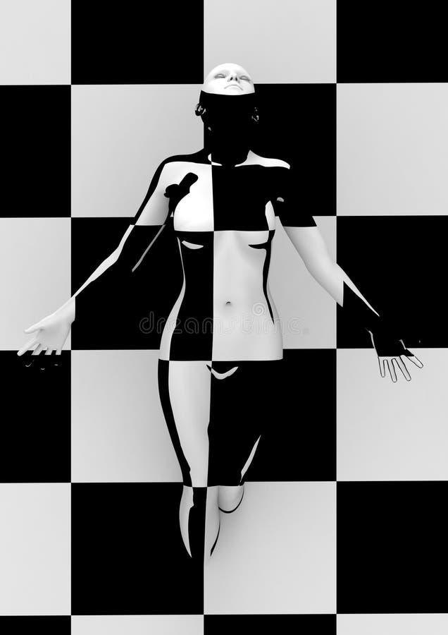 Επιλέξτε απεικόνιση τέχνης με τη μοντέρνη γυναίκα διανυσματική απεικόνιση