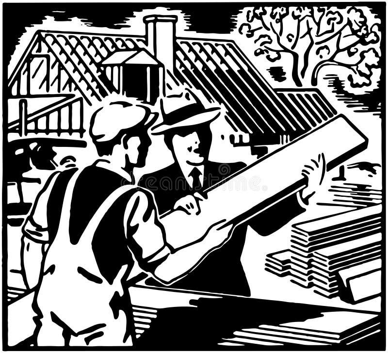 Επιλέξτε την ξυλεία σας διανυσματική απεικόνιση
