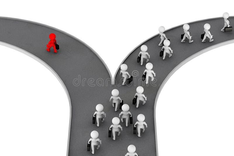 Επιλέξτε τη σωστή κατεύθυνση στην επιχειρησιακή έννοια ελεύθερη απεικόνιση δικαιώματος