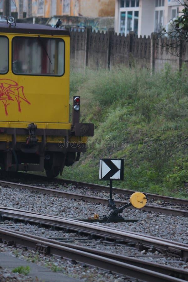 Επιλογέας γραμμών των σιδηροδρόμων στοκ εικόνες με δικαίωμα ελεύθερης χρήσης