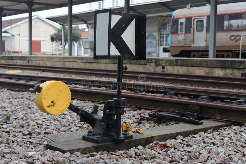 Επιλογέας γραμμών των σιδηροδρόμων στοκ φωτογραφίες με δικαίωμα ελεύθερης χρήσης