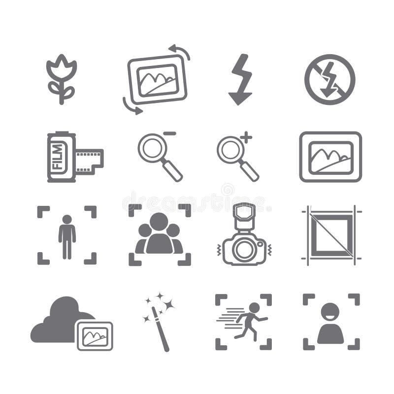 Επιλογές εικονιδίων καμερών απεικόνιση αποθεμάτων