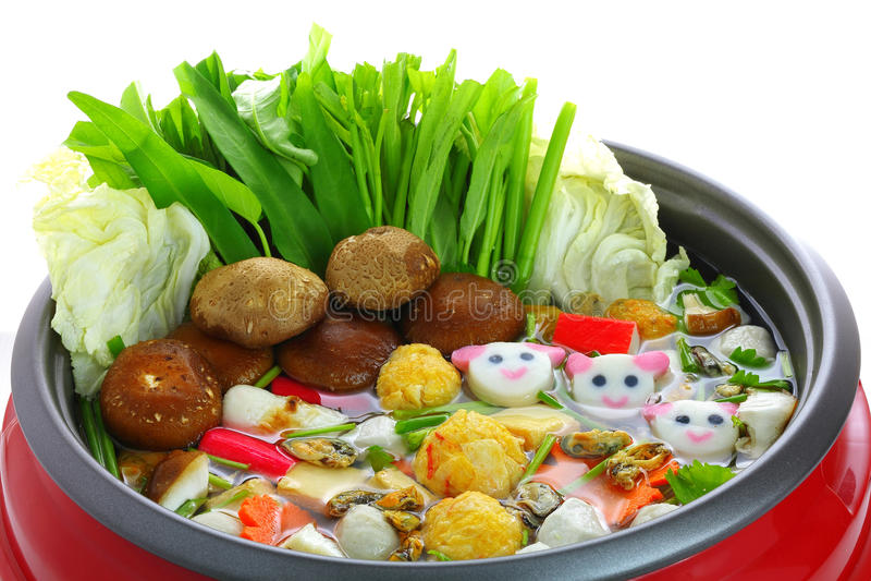Δοχείο Sukiyaki στοκ εικόνες