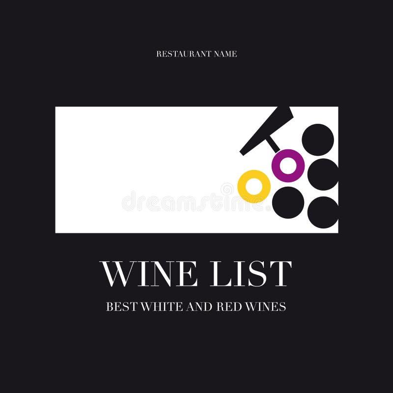 Επιλογές καταλόγων κρασιού απεικόνιση αποθεμάτων