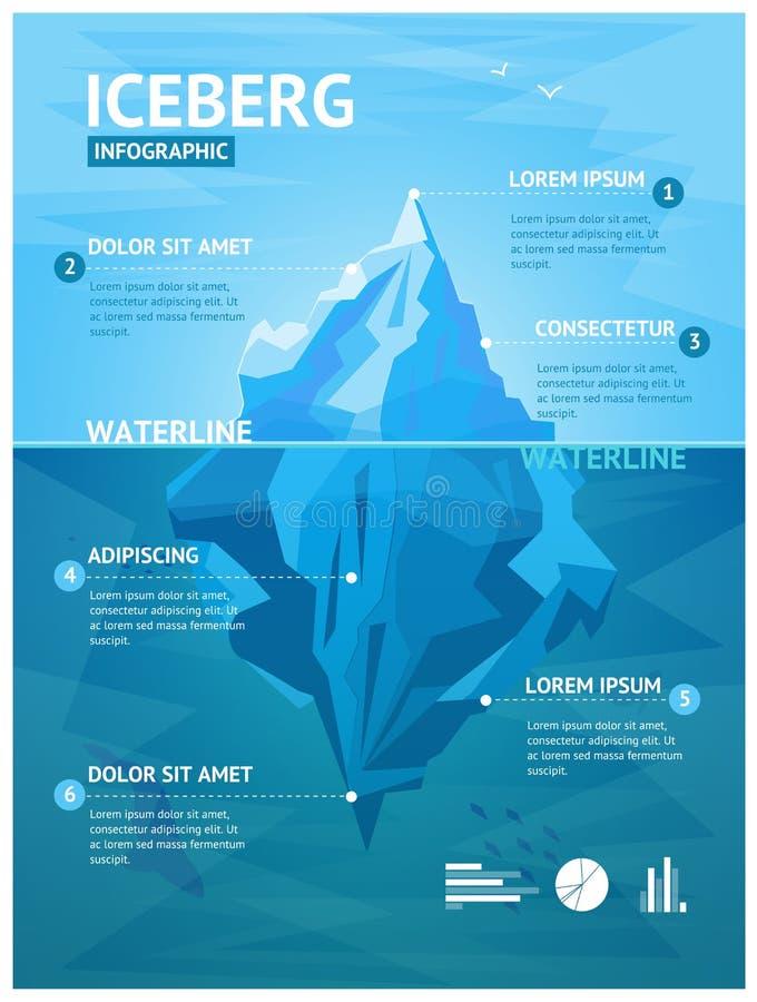 Επιλογές Infographic παγόβουνων διάνυσμα ελεύθερη απεικόνιση δικαιώματος