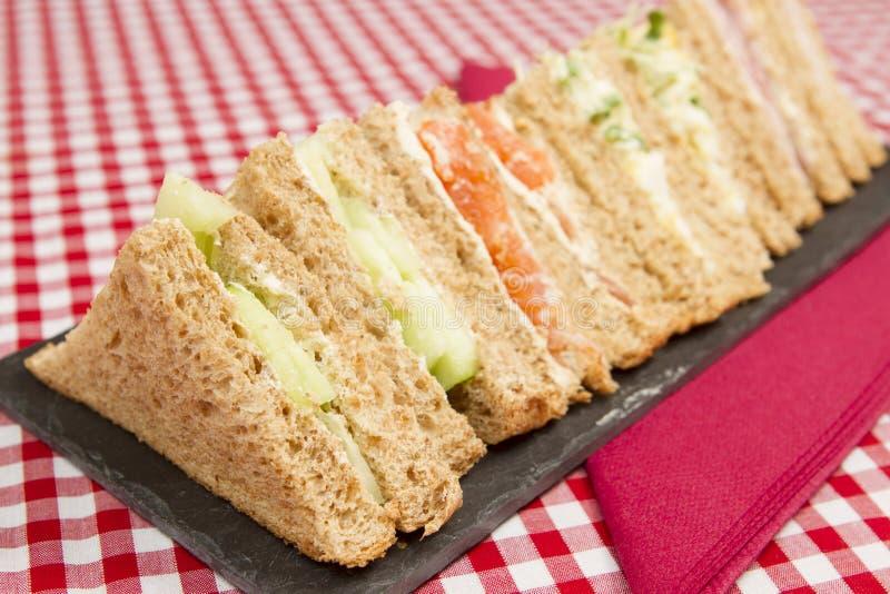 Επιλογή σάντουιτς στοκ φωτογραφίες