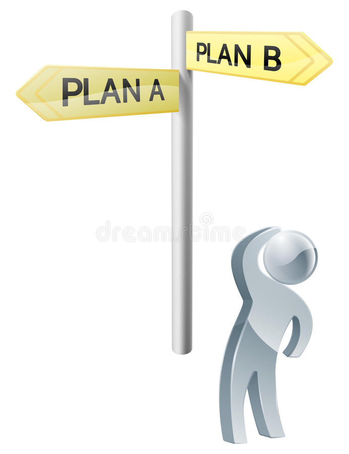 Επιλογή σχεδίων Α ή σχεδίων Β ελεύθερη απεικόνιση δικαιώματος