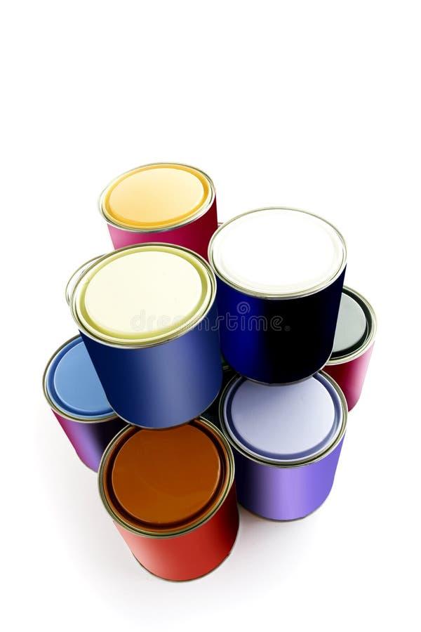 Επιλογή των κασσίτερων χρωμάτων στοκ εικόνες
