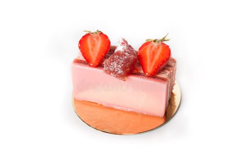 Επιδόρπιο κέικ φραουλών στοκ φωτογραφίες με δικαίωμα ελεύθερης χρήσης