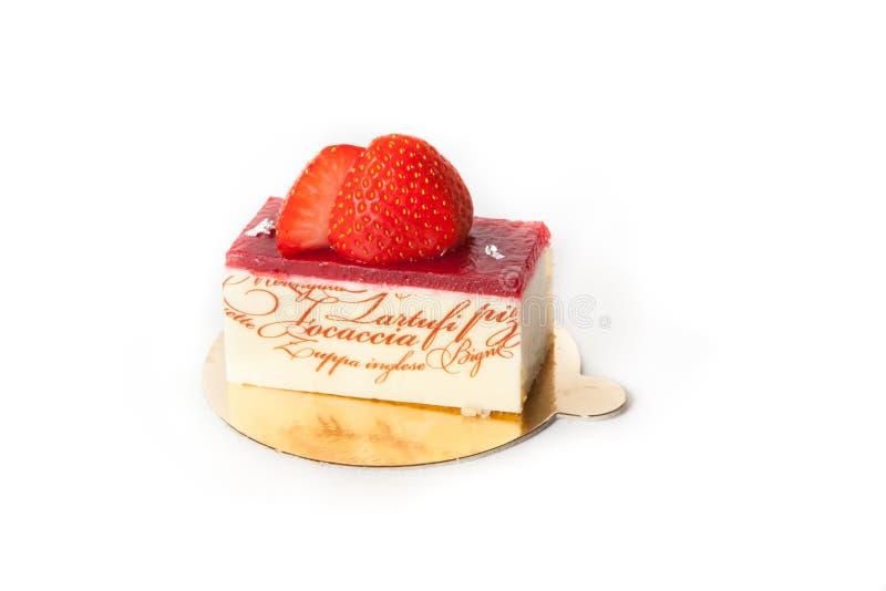 Επιδόρπιο κέικ φραουλών στοκ εικόνες με δικαίωμα ελεύθερης χρήσης