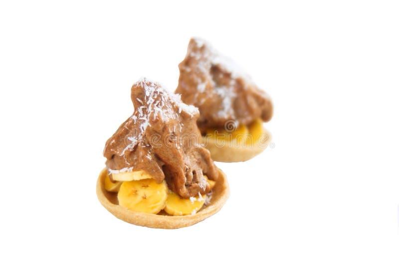 Επιδόρπιο πιτών παγωτού μπανανών στοκ εικόνες με δικαίωμα ελεύθερης χρήσης