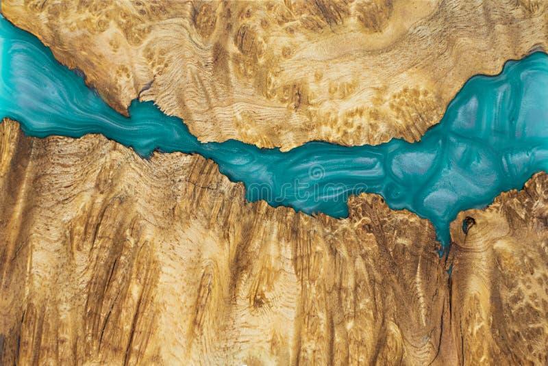εποξική ρητίνη που σταθεροποιεί το εξωτικό ξύλινο κόκκινο υπόβαθρο Afzelia burl, αφηρημένη φωτογραφία εικόνων τέχνης στοκ εικόνες