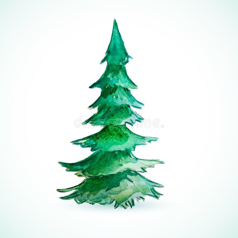 Εποχή καρτών διακοπών δέντρων χρώματος Χριστουγέννων διανυσματική απεικόνιση