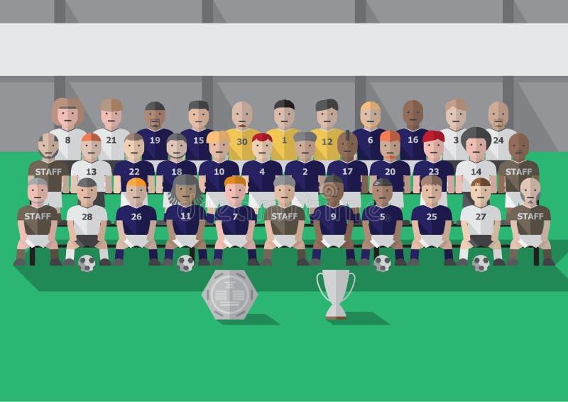 Εποχή ομάδων λεσχών ποδοσφαίρου ελεύθερη απεικόνιση δικαιώματος