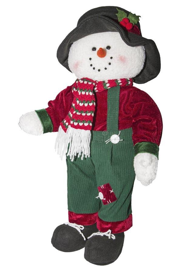 Εποχιακή διακοπή hobo χιονανθρώπων Χριστουγέννων στοκ φωτογραφία με δικαίωμα ελεύθερης χρήσης
