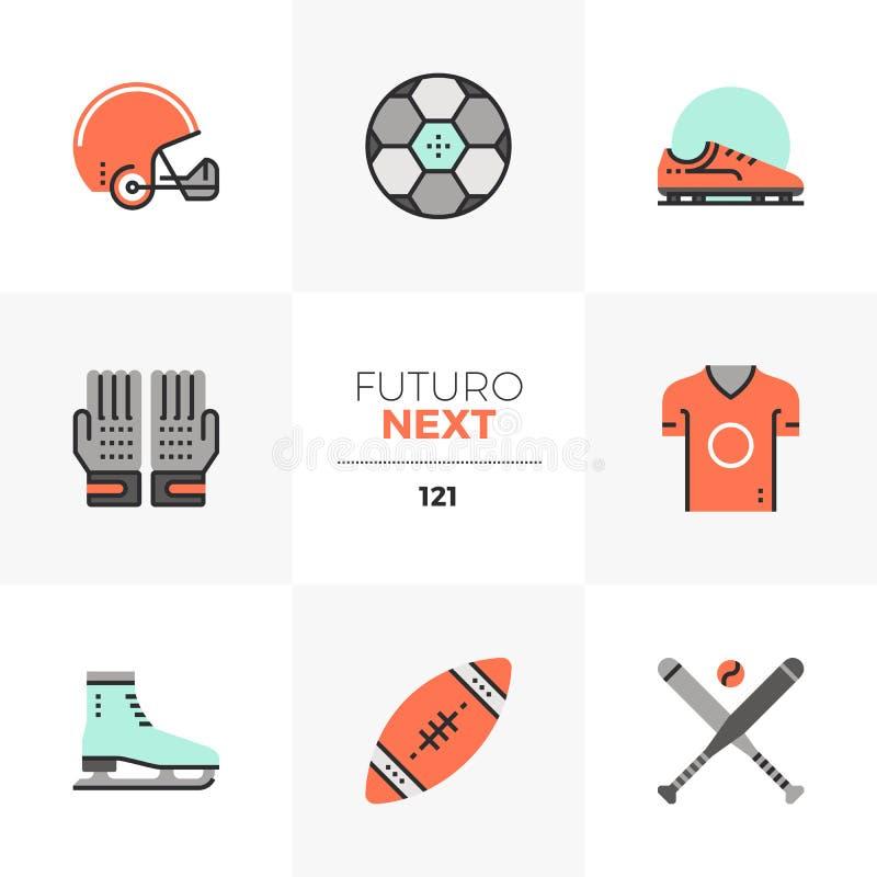 Επόμενα εικονίδια αθλητικού Obects Futuro διανυσματική απεικόνιση