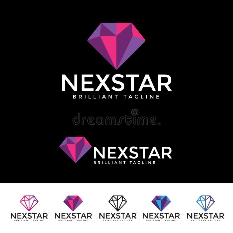 Επόμενο αστέρι Logotype ελεύθερη απεικόνιση δικαιώματος