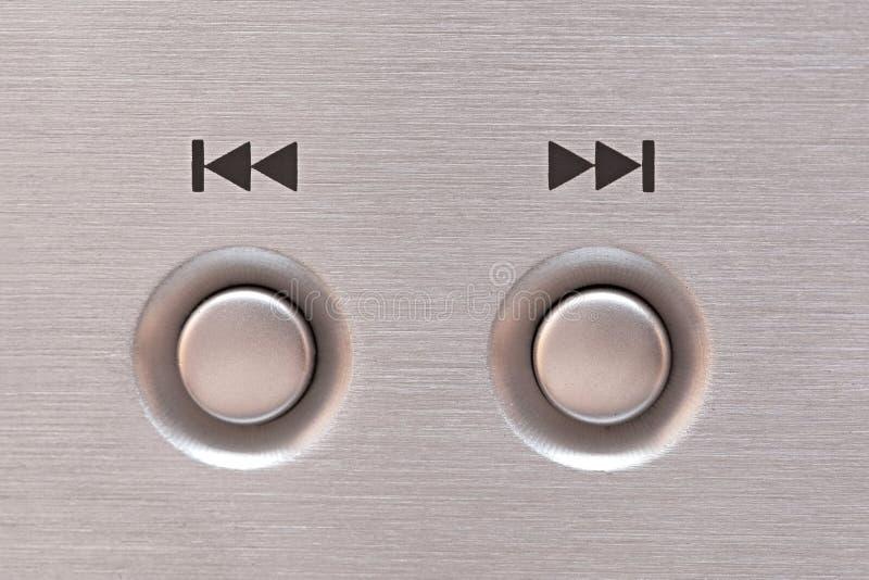Επόμενο και προηγούμενο κουμπί στοκ φωτογραφία με δικαίωμα ελεύθερης χρήσης