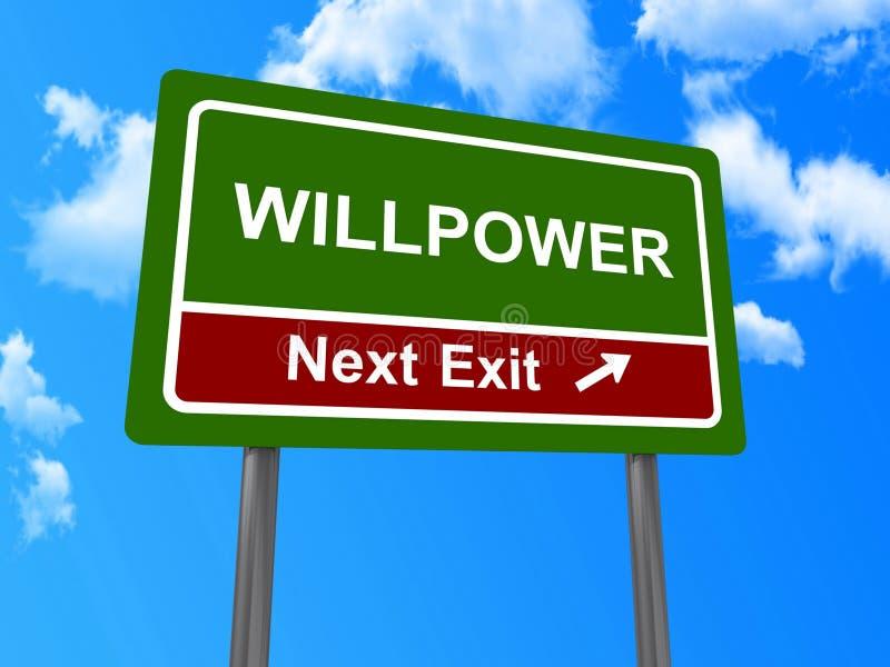 Επόμενο σημάδι εξόδων Willpower στοκ φωτογραφίες με δικαίωμα ελεύθερης χρήσης
