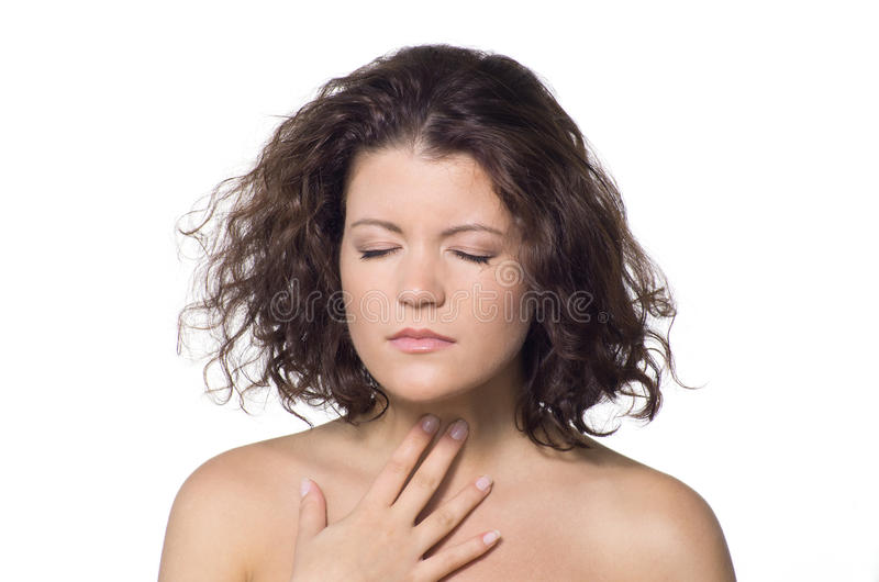 επώδυνος λαιμός στοκ εικόνες