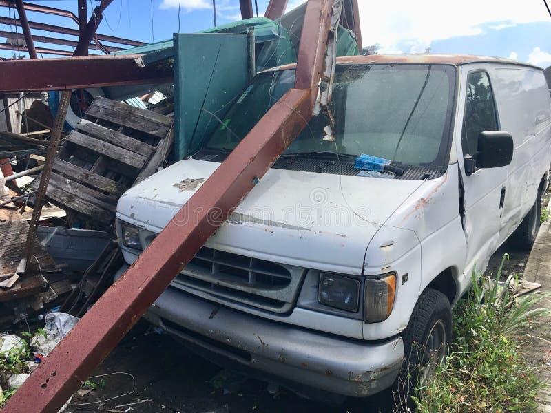 Ερήμωση τυφώνα σε StThomas, καραϊβικό στοκ εικόνα