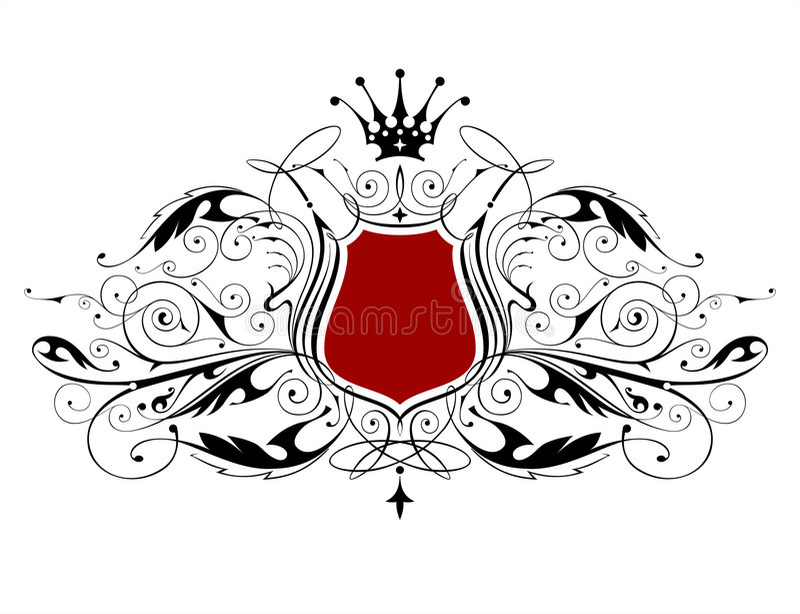 εραλδικός τρύγος εμβλη&mu διανυσματική απεικόνιση