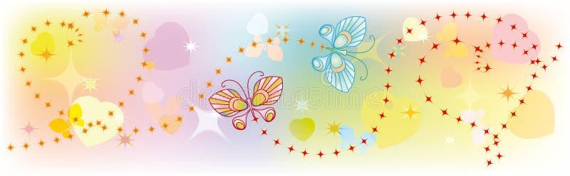 Εραστές πεταλούδων ελεύθερη απεικόνιση δικαιώματος
