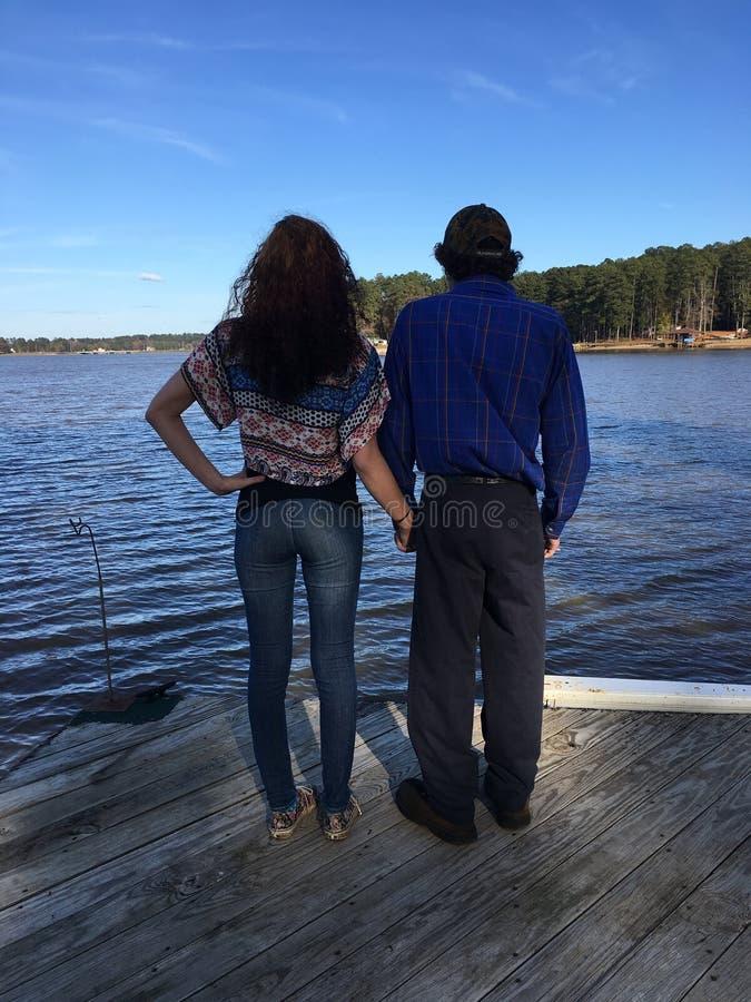 Εραστές στη λίμνη στοκ φωτογραφίες
