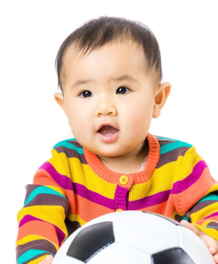 Εραστής ποδοσφαίρου μωρών στοκ εικόνες