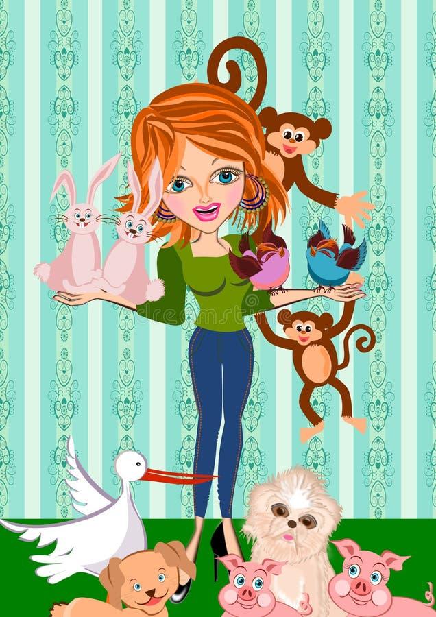 Εραστής της Pet απεικόνιση αποθεμάτων