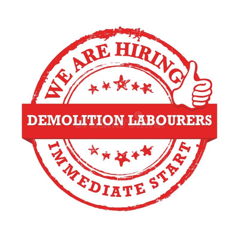 Εργάτες κατεδάφισης μισθώνουμε, ελεύθερη απεικόνιση δικαιώματος