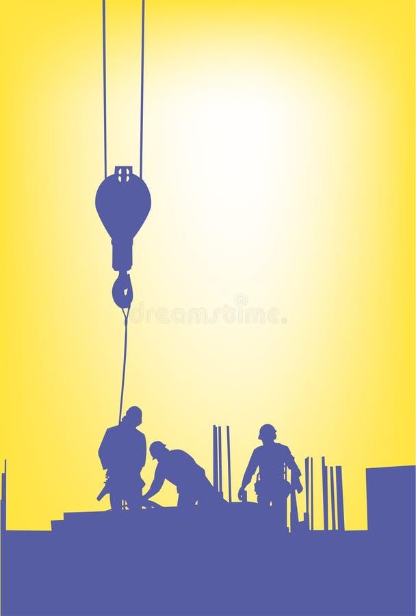 εργάτες οικοδομημάτων ελεύθερη απεικόνιση δικαιώματος