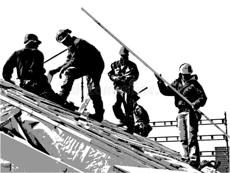 εργάτες οικοδομών ελεύθερη απεικόνιση δικαιώματος