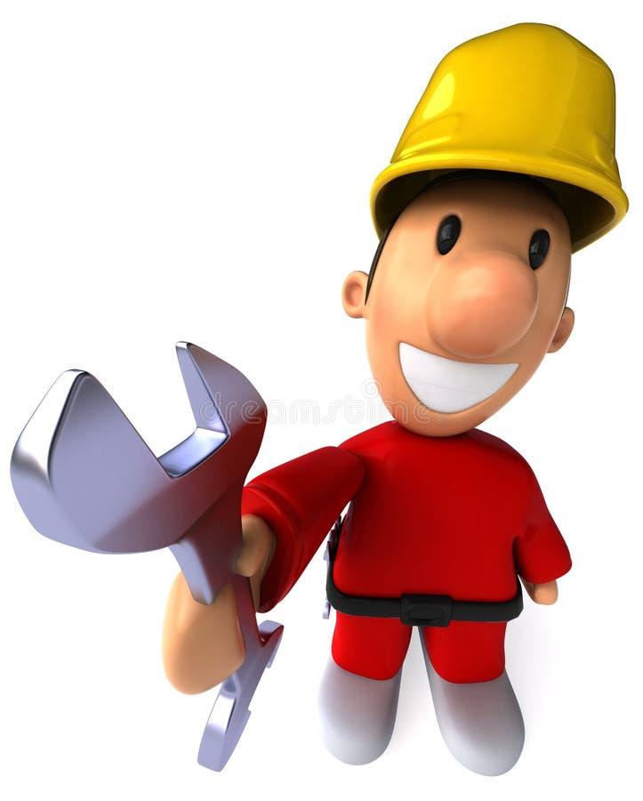 Download εργάτης οικοδομών απεικόνιση αποθεμάτων. εικονογραφία από κατασκευή - 13184498