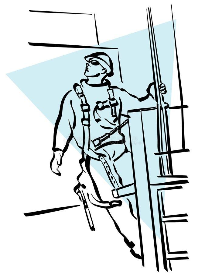 εργάτης οικοδομών απεικόνιση αποθεμάτων