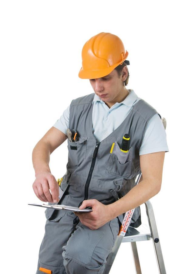 εργάτης οικοδομών στοκ εικόνα