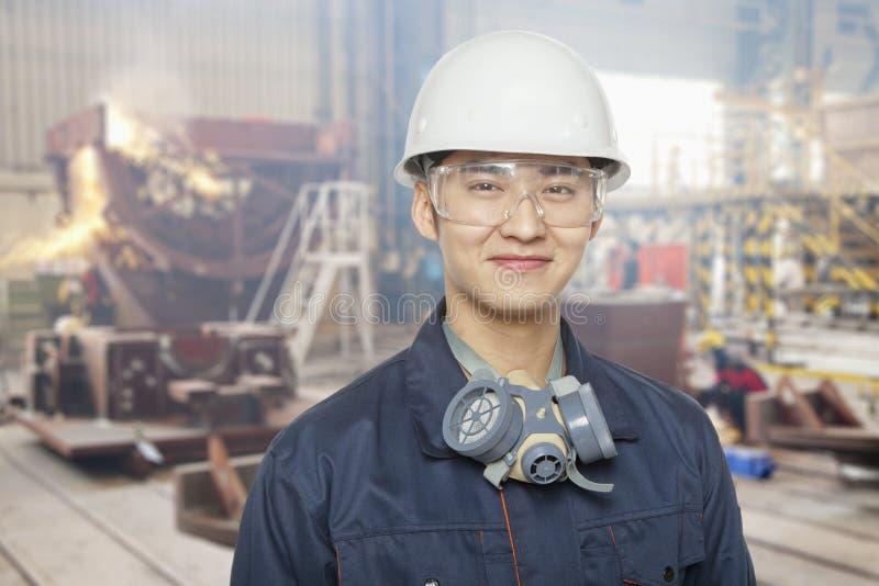 Εργάτης οικοδομών για την περιοχή, πορτρέτο στοκ φωτογραφία με δικαίωμα ελεύθερης χρήσης